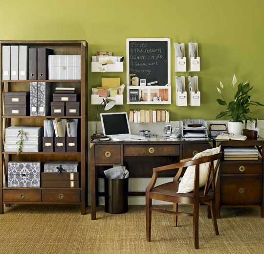 Decorating ideas for the ideal home office space amna b for Office interior decoration items
